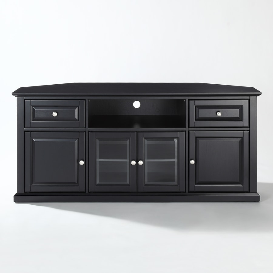 black corner tv stand Crosley Furniture Black Corner TV Stand at Lowes.com black corner tv stand