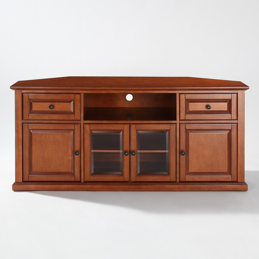Shop crosley furniture classic cherry corner tv stand at for Classic furniture products vadodara