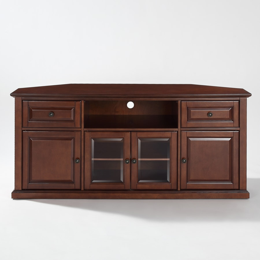 Shop crosley furniture vintage mahogany corner tv stand at for Tv furniture