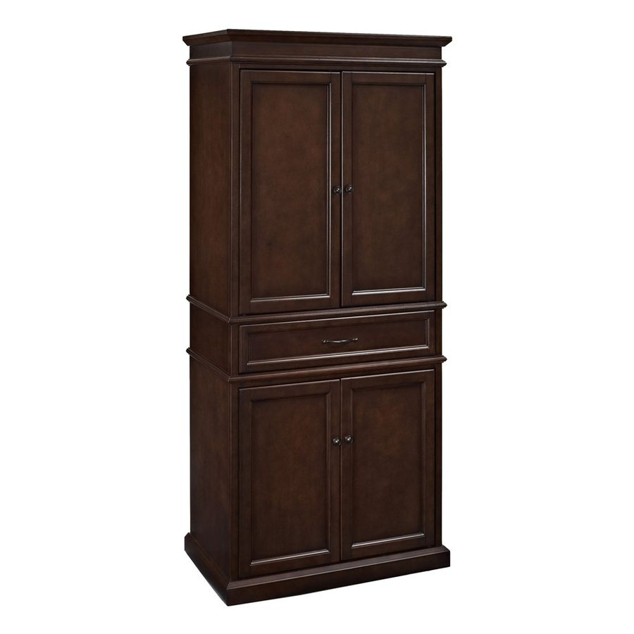 Shop Crosley Furniture Mahogany Poplar Pantry At Lowes Com