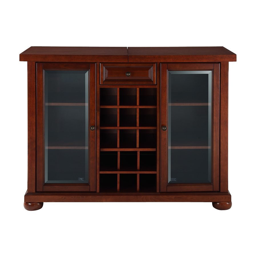 Crosley Furniture Alexandria Vintage Mahogany 15-Bottle Wine Cabinet