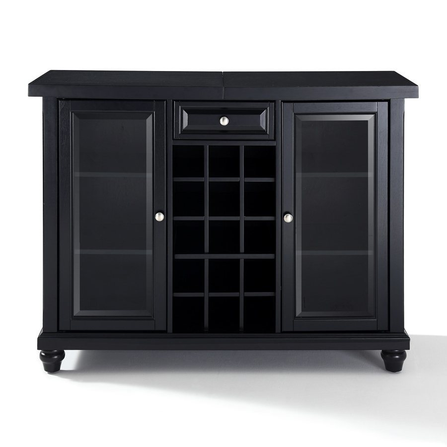 Crosley Furniture Cambridge Black 15-Bottle Wine Cabinet