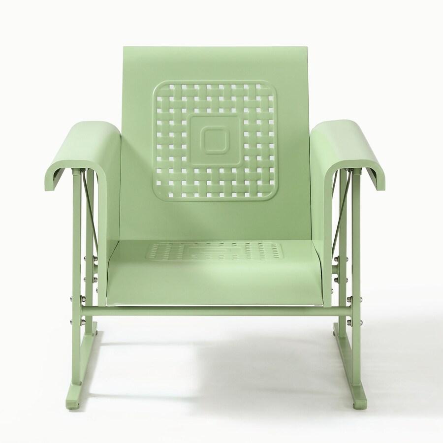 Crosley Furniture Veranda Light Green Steel Patio Conversation Chair