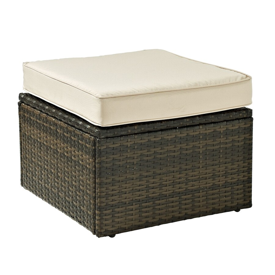 Crosley Furniture Palm Harbor Brown Wicker Ottoman
