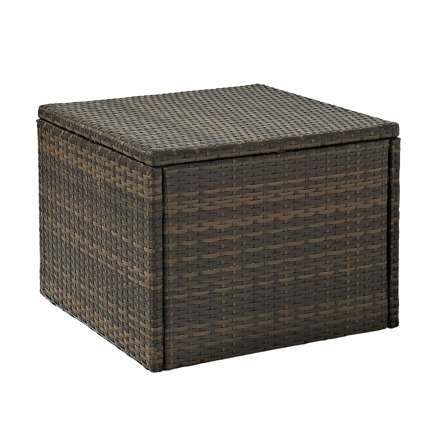 Shop Crosley Furniture Palm Harbor 23 In W X 23 In L Square Wicker Coffee Table At