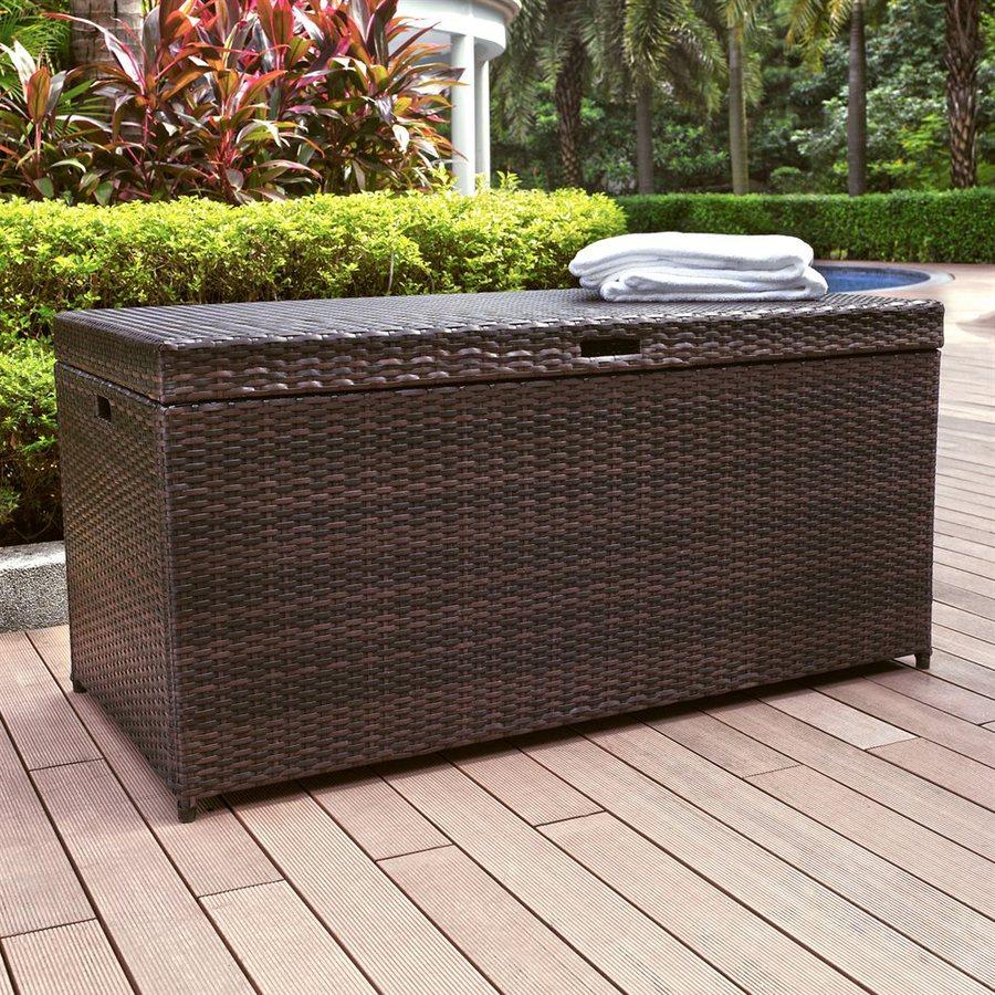Crosley Furniture Palm Harbor 52 In L X 25 In W Brown Resin Deck