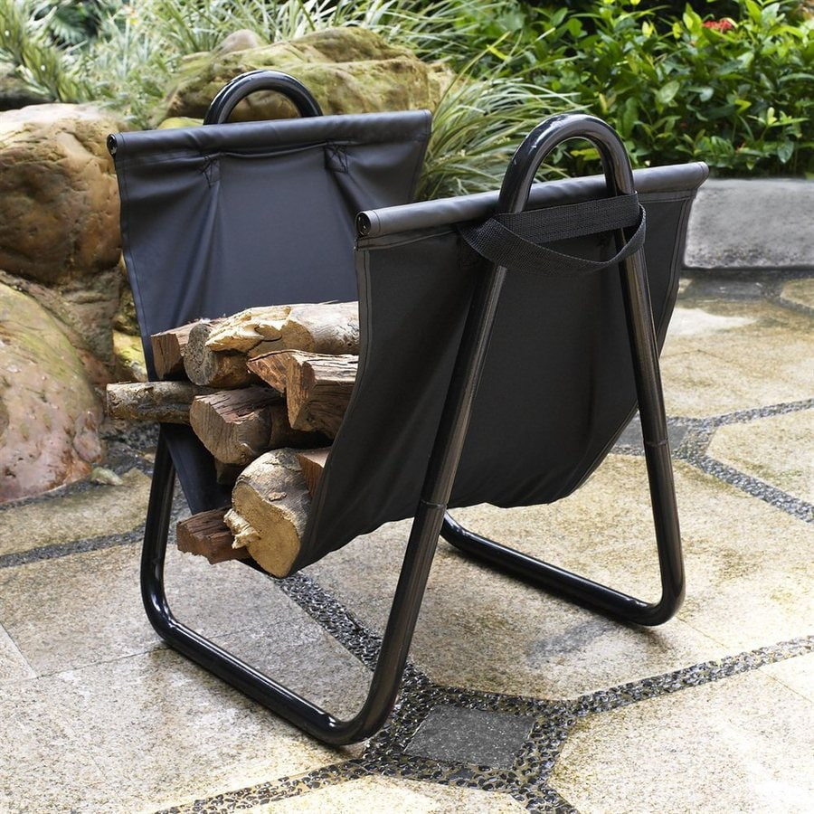 Crosley Furniture 21-in x 19-in x 16-in Steel Log Tote