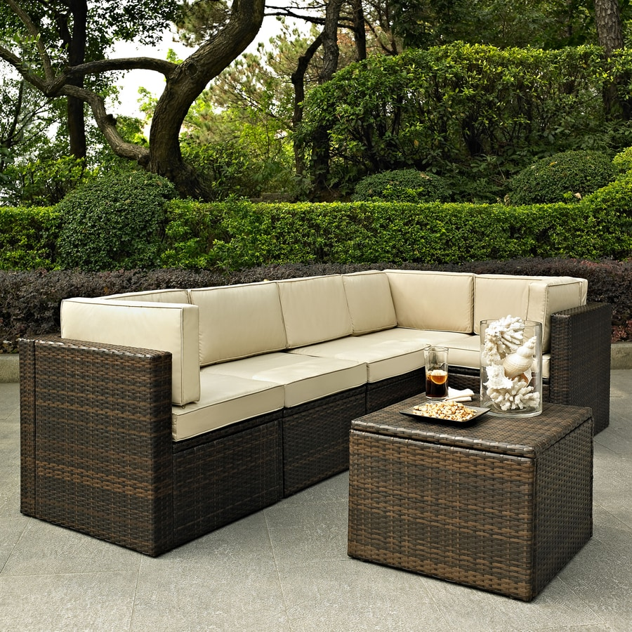 Crosley Furniture Palm Harbor 6-Piece Wicker Patio Conversation Set