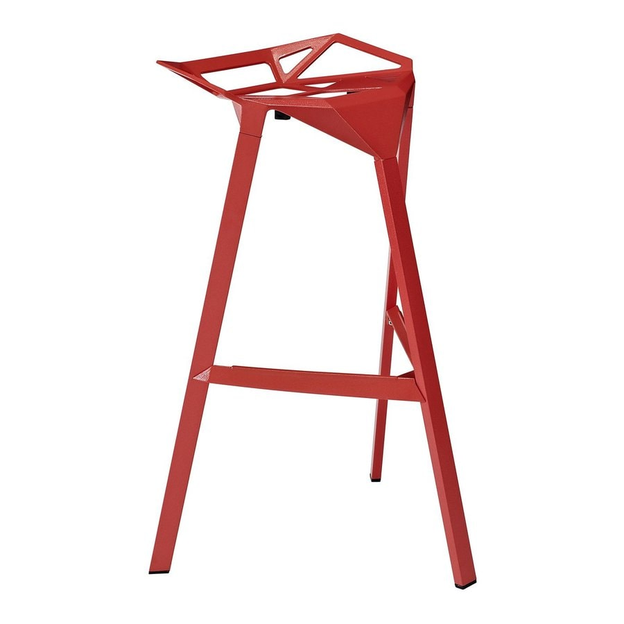 Modway Launch Red 30.5-in Bar Stool