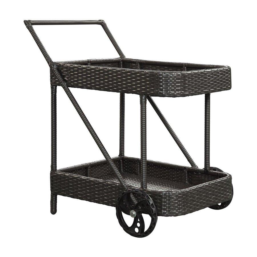 Modway Replenish Espresso Rattan Wicker Outdoor Serving Cart