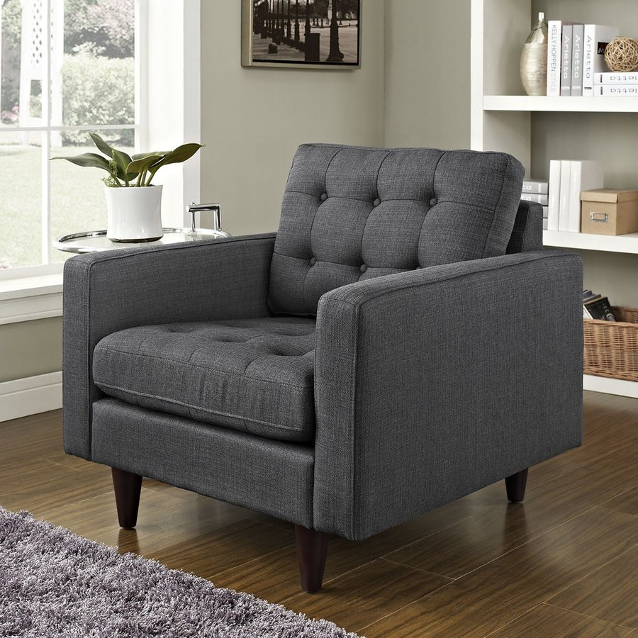 Modway Empress Modern Gray Nylon Accent Chair
