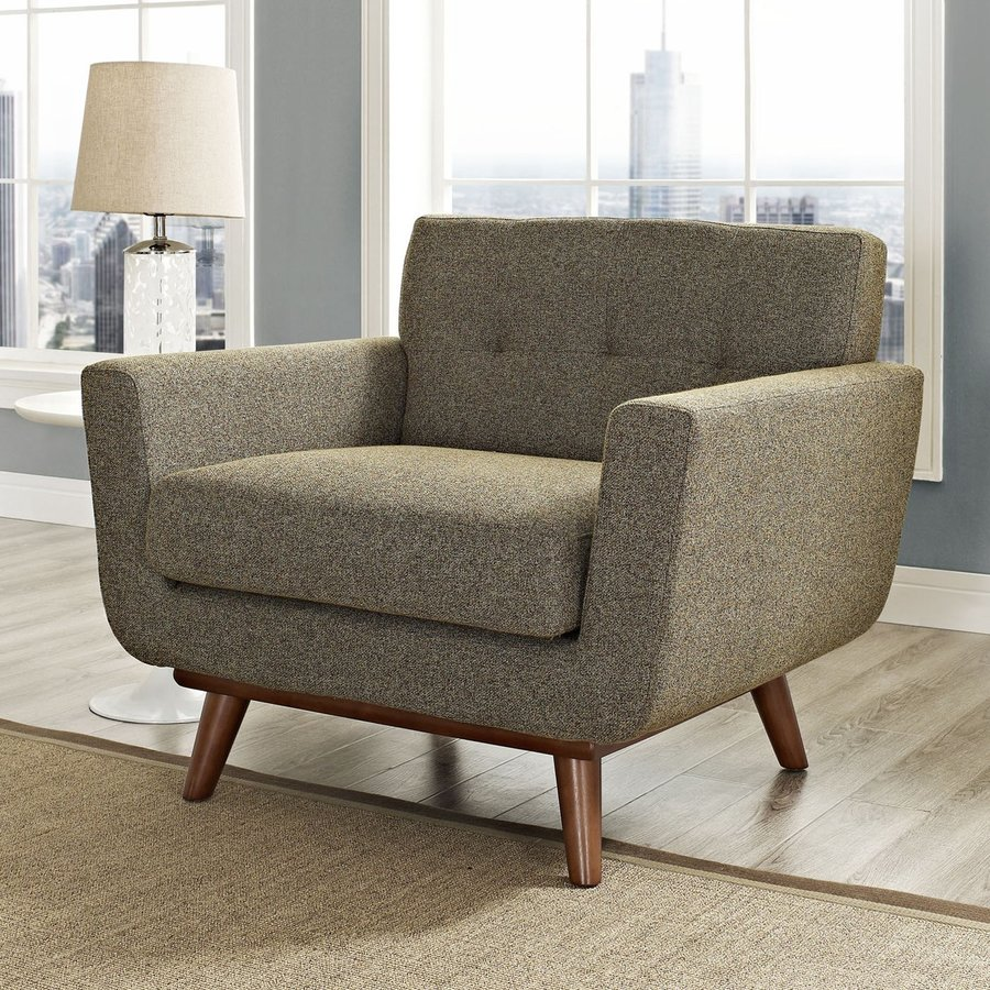 Modway Engage Oatmeal Nylon Accent Chair