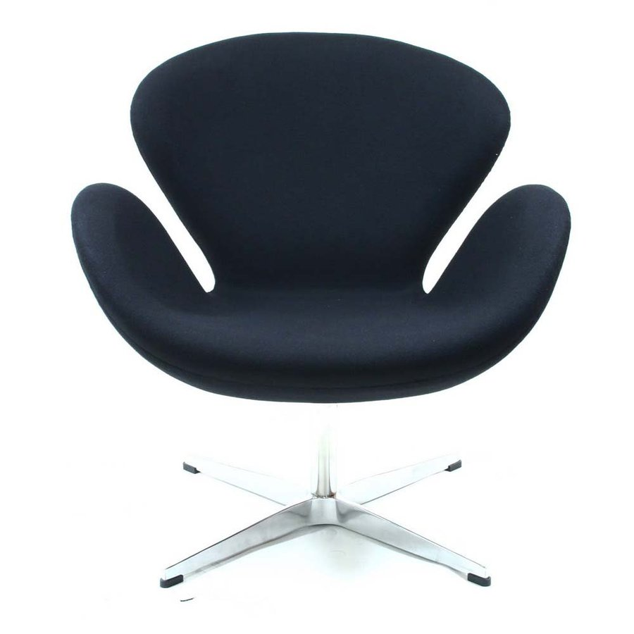 Modway Wing Modern Black Accent Chair