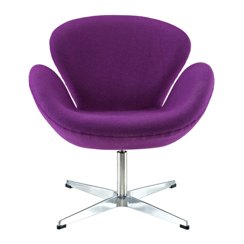 Modway Wing Purple Accent Chair At Lowes Com