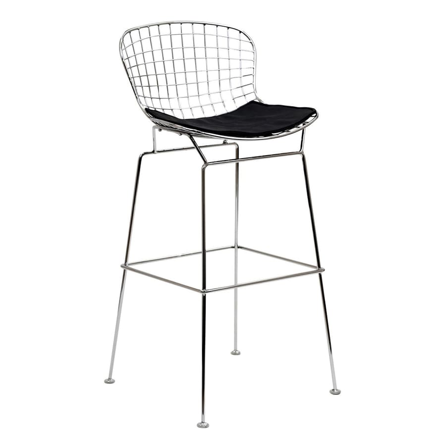 Modway Cad Silver 30-in Bar Stool