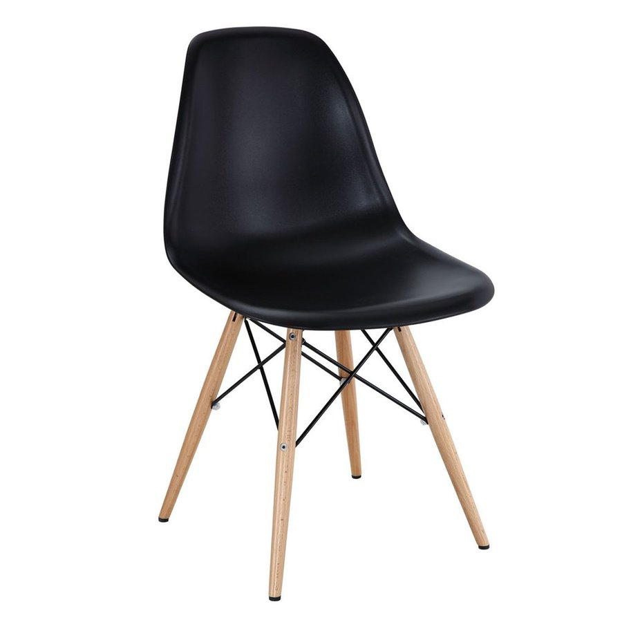 Modway Pyramid Black Side Chair