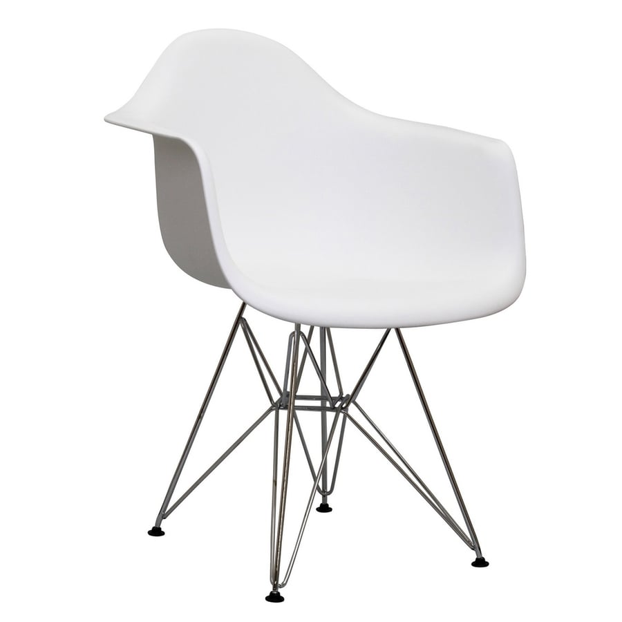 Modway Paris White Stackable Arm Chair