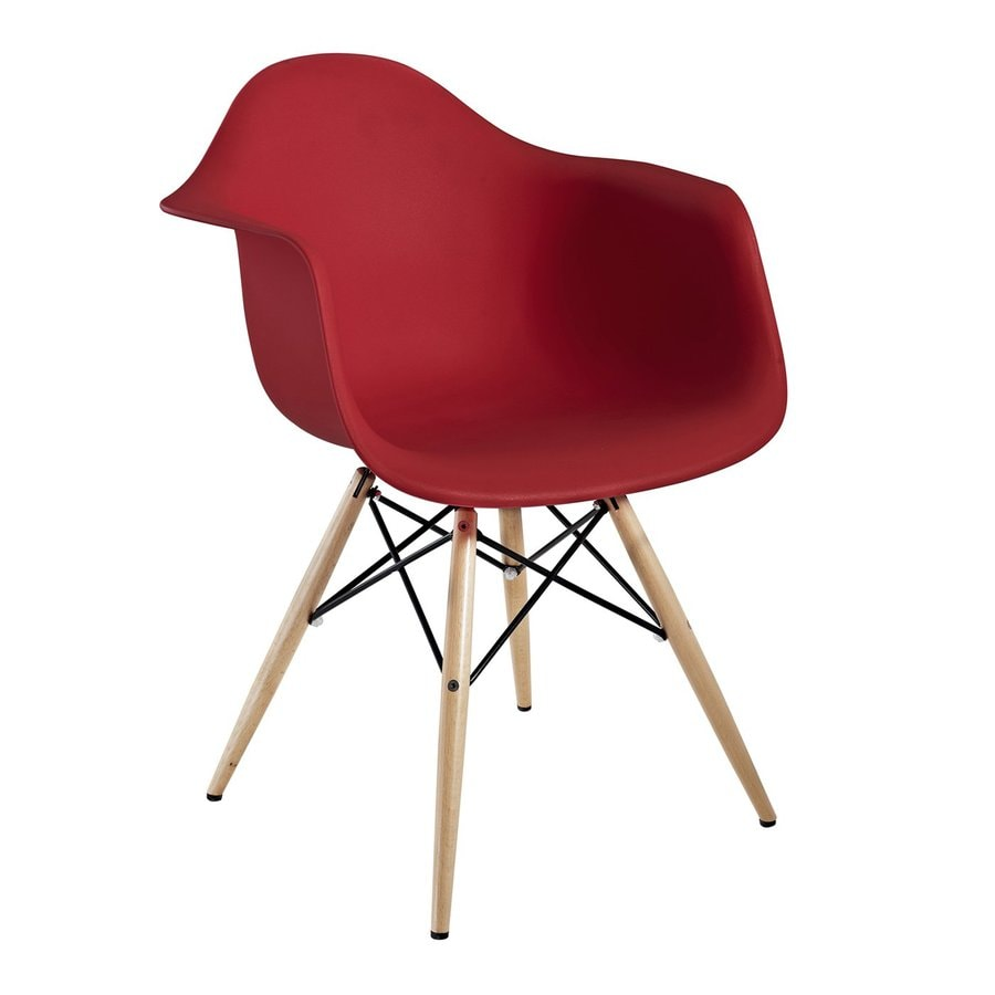 Modway Pyramid Red Stackable Arm Chair