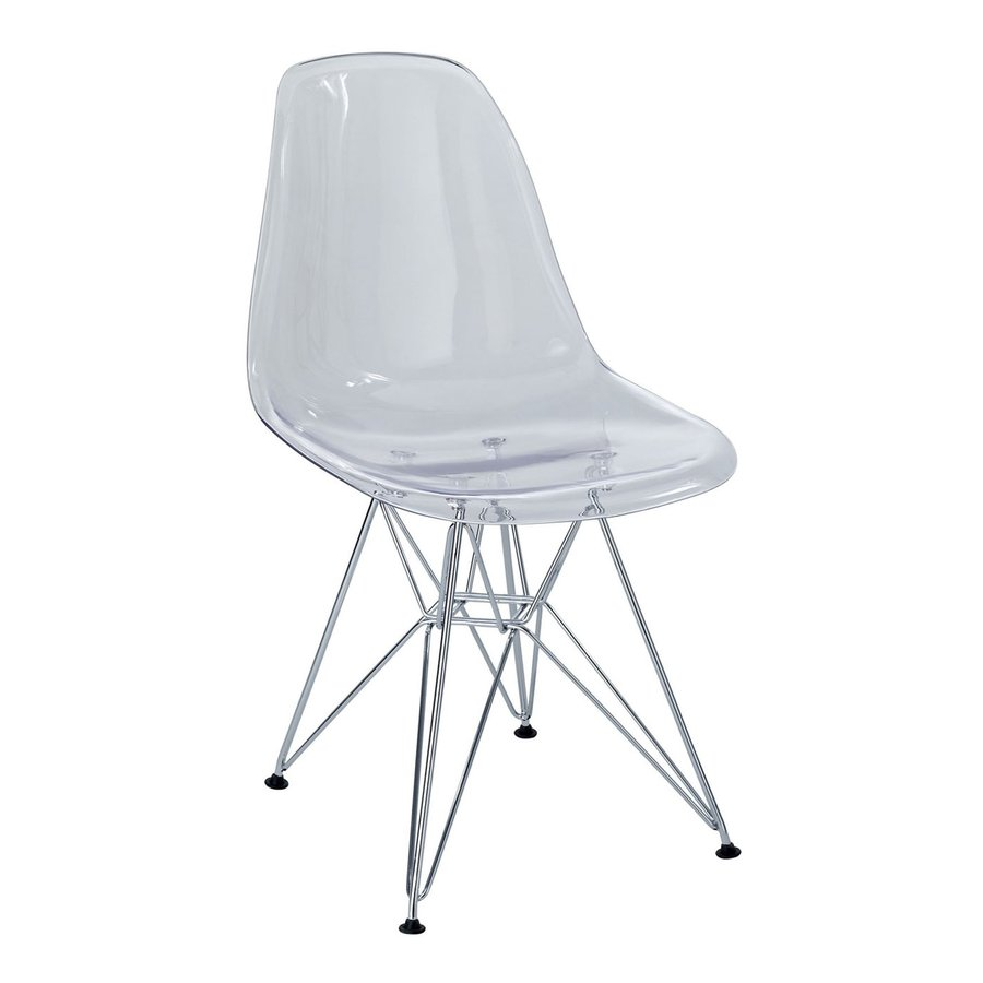 Modway Paris Clear Stackable Side Chair