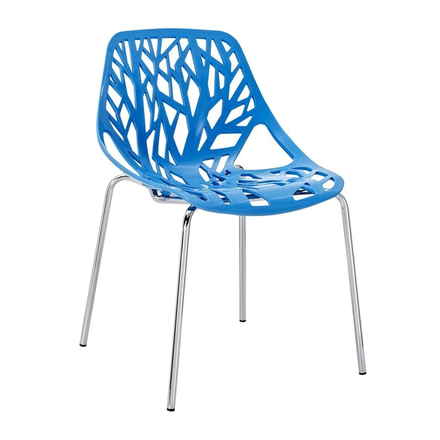 Modway Stencil Blue Stackable Side Chair