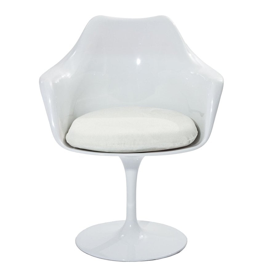 Modway 1 Lippa Gloss White with White Cushion Arm Chair