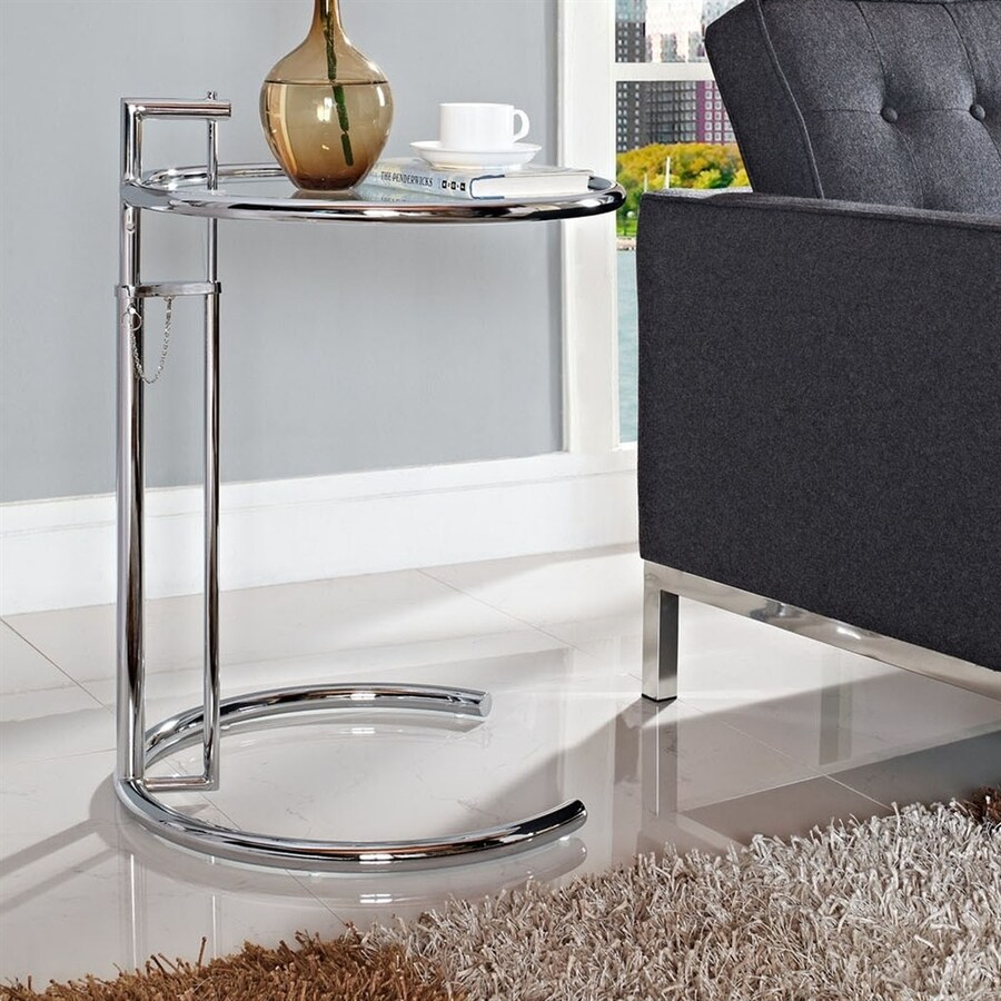 Modway Eileen Silver Round End Table