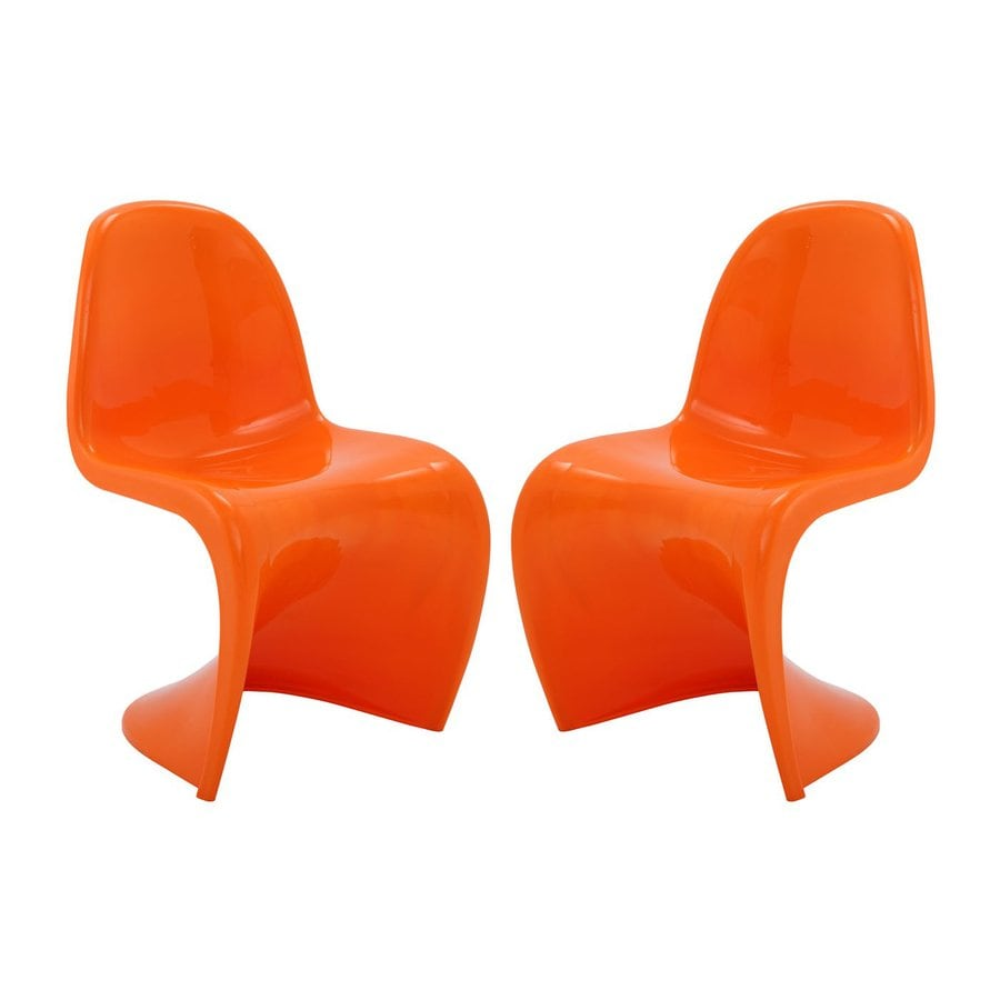 Modway Set of 2 Slither Contemporary Side Chairs