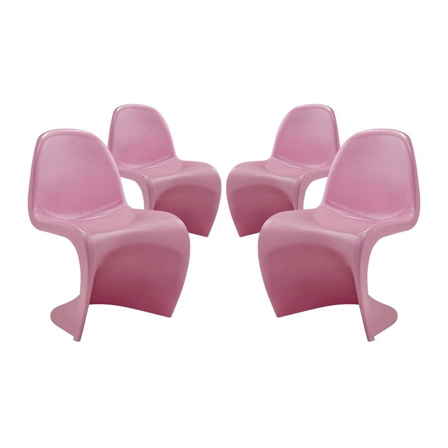 Modway Set of 4 Slither Contemporary Side Chairs