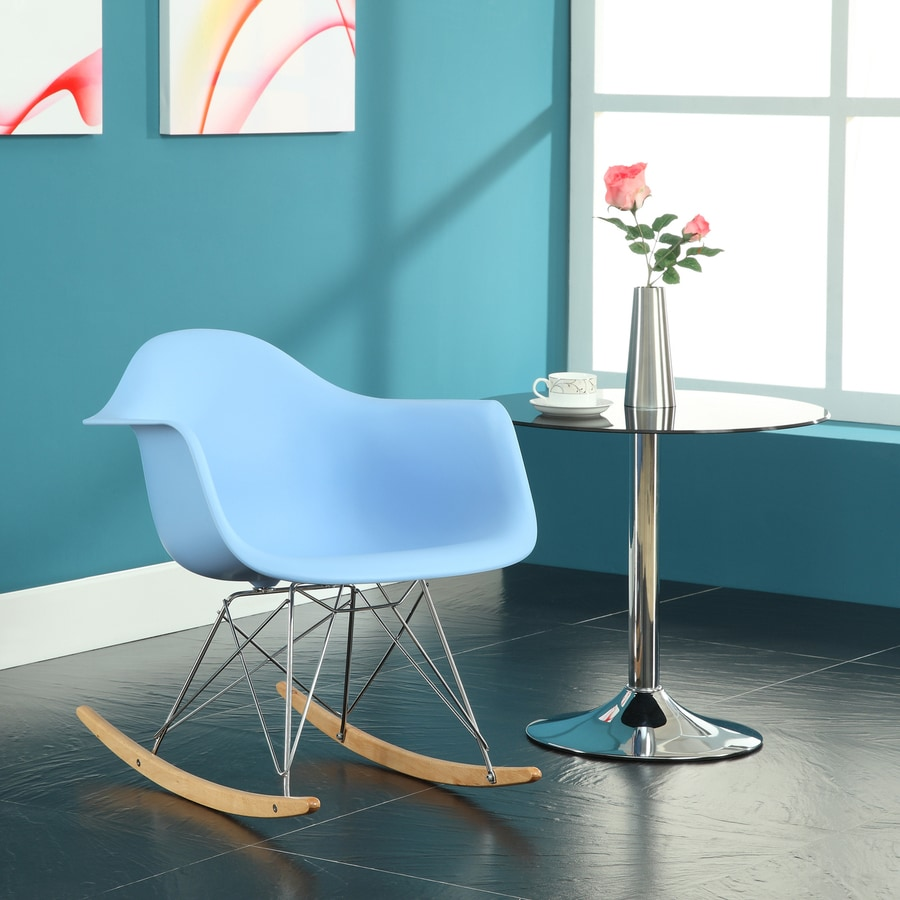 Modway Modern Blue Rocking Chair