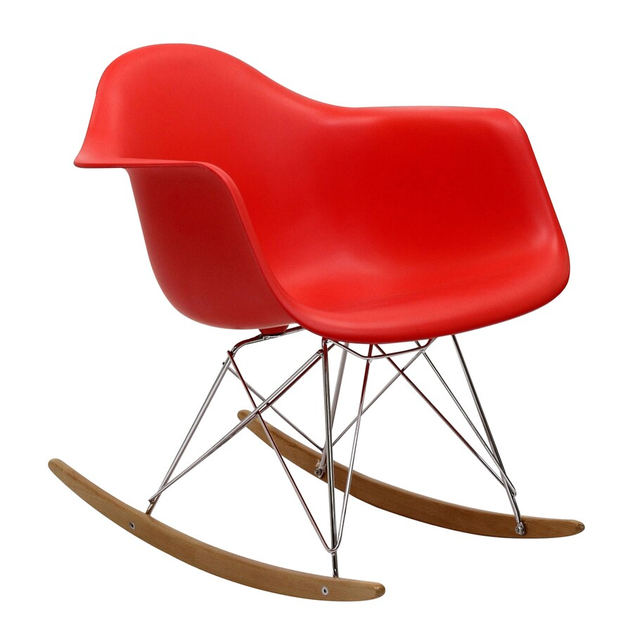 Modway Modern Red Rocking Chair