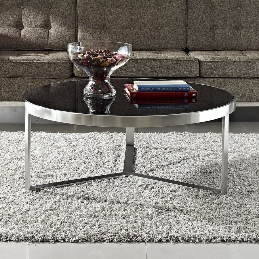 Modway Disk Glass Coffee Table