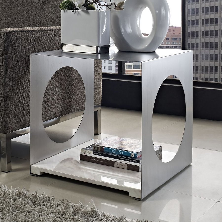 Modway Surpass White End Table
