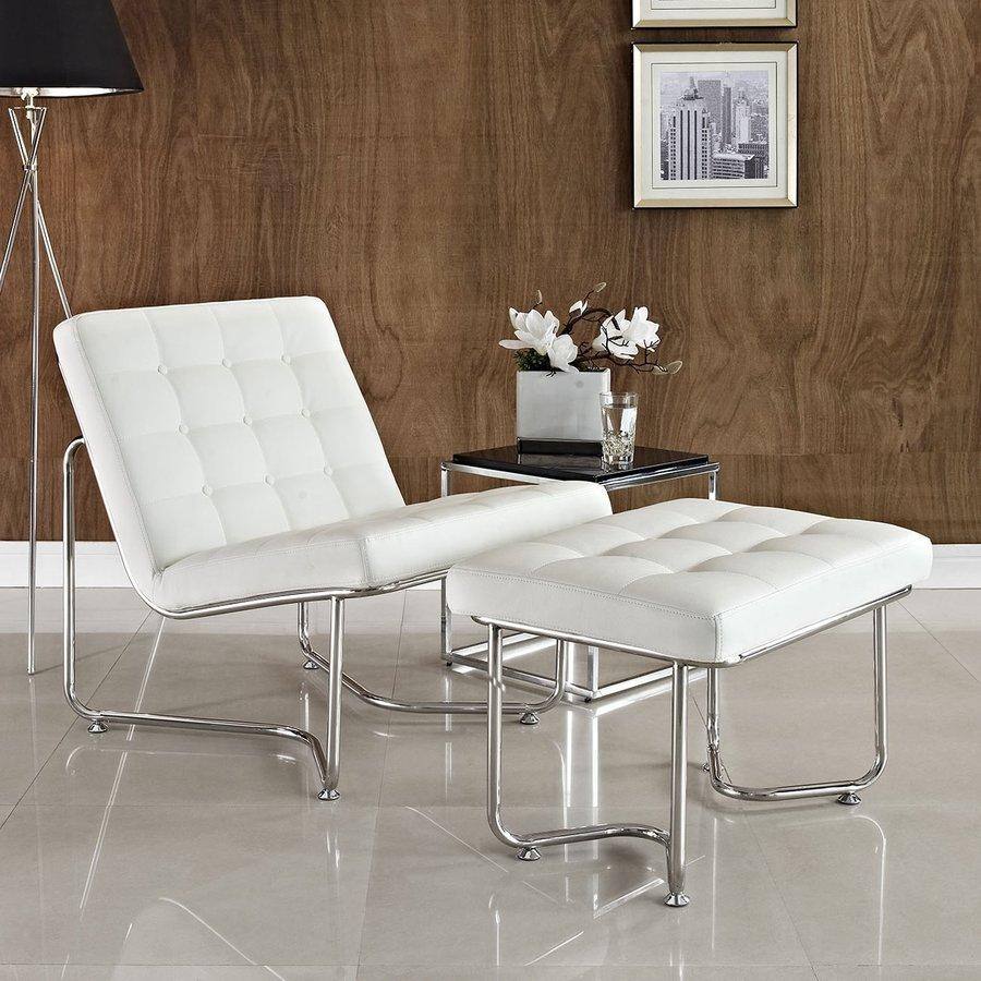 Modway Gibraltar White Accent Chair