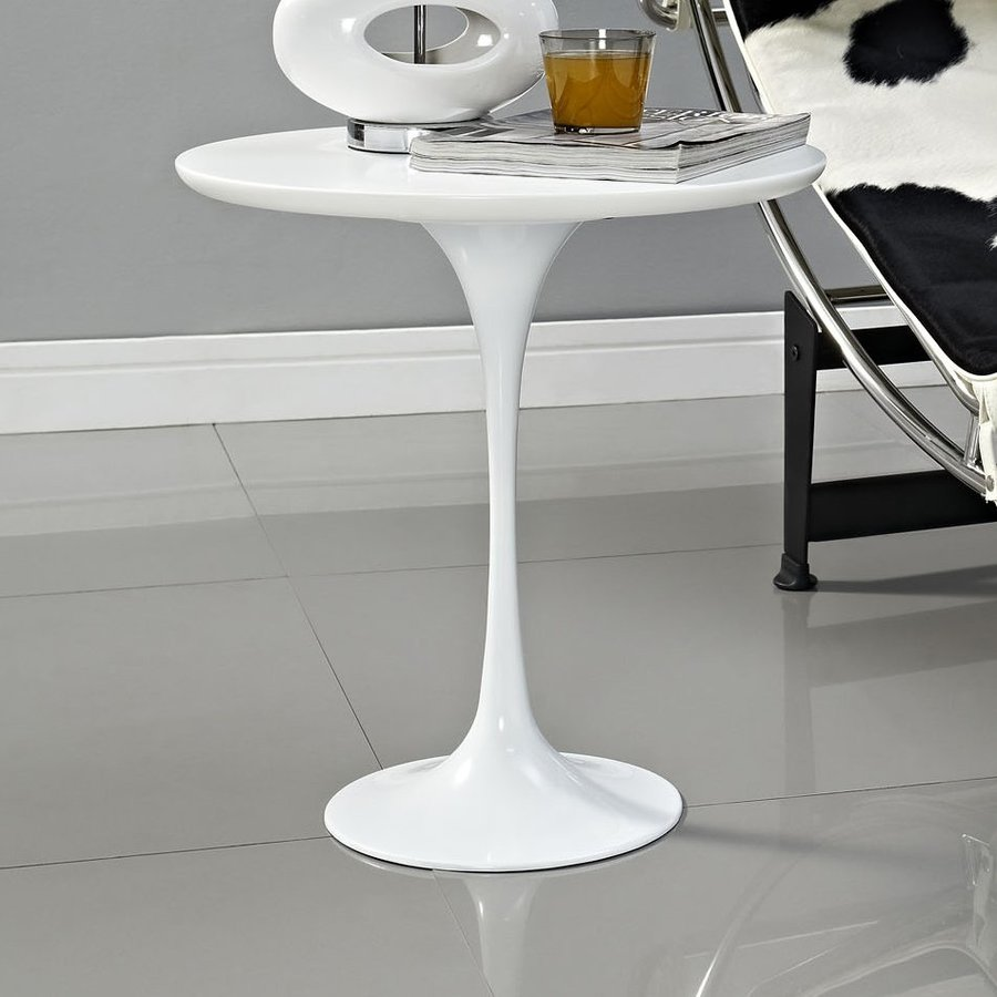 Modway Lippa Gloss White End Table