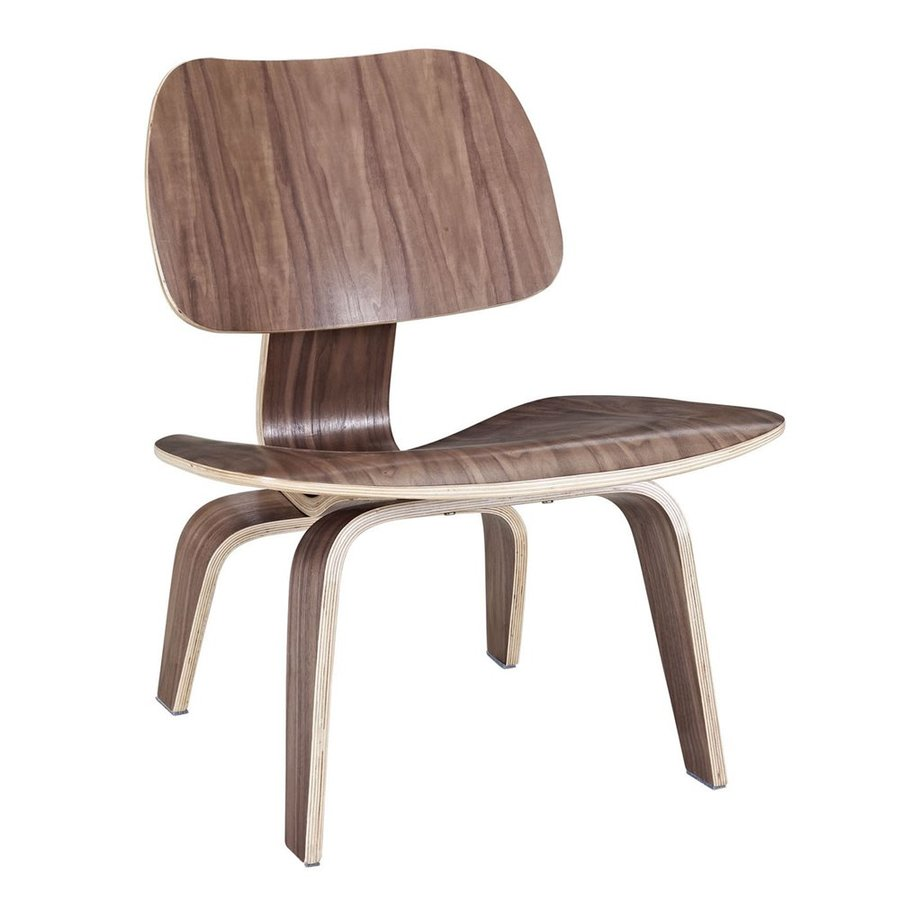 Modway Fathom Modern Walnut Accent Chair