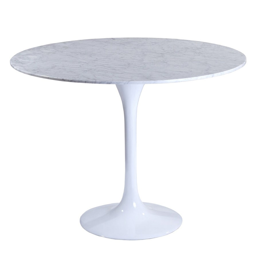 Modway Lippa White Round Dining Table
