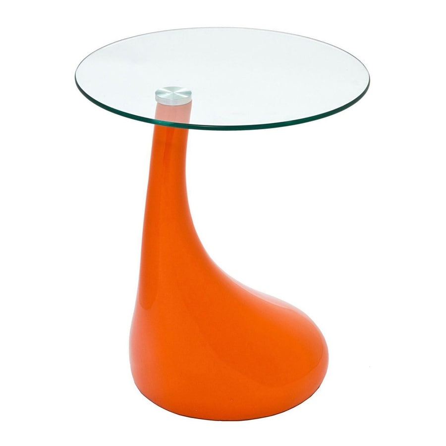 Modway Teardrop Gloss Orange Round End Table