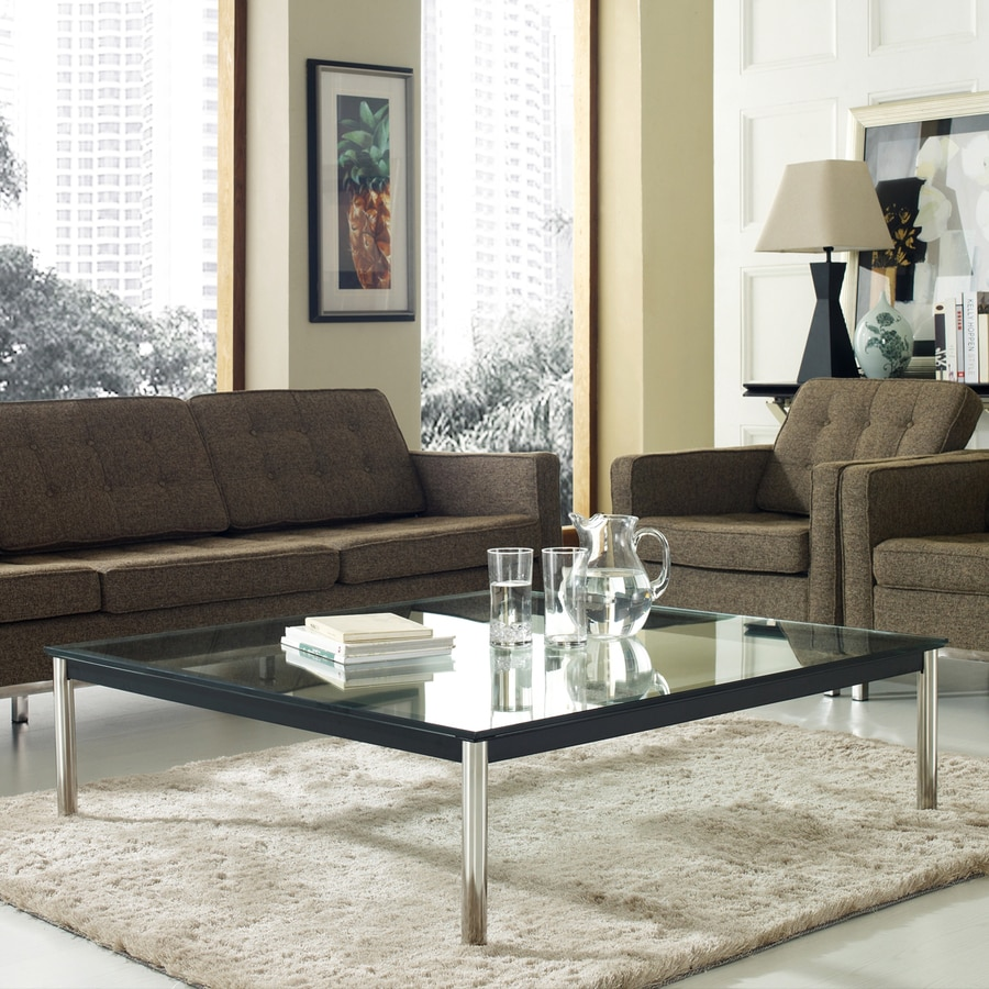 Modway Le Corbusier Glass Coffee Table