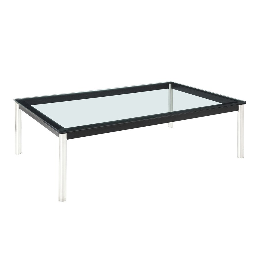 Modway Le Corbusier Black/Silver Rectangular Coffee Table