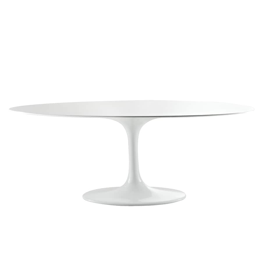 Modway Lippa Gloss White Oval Dining Table