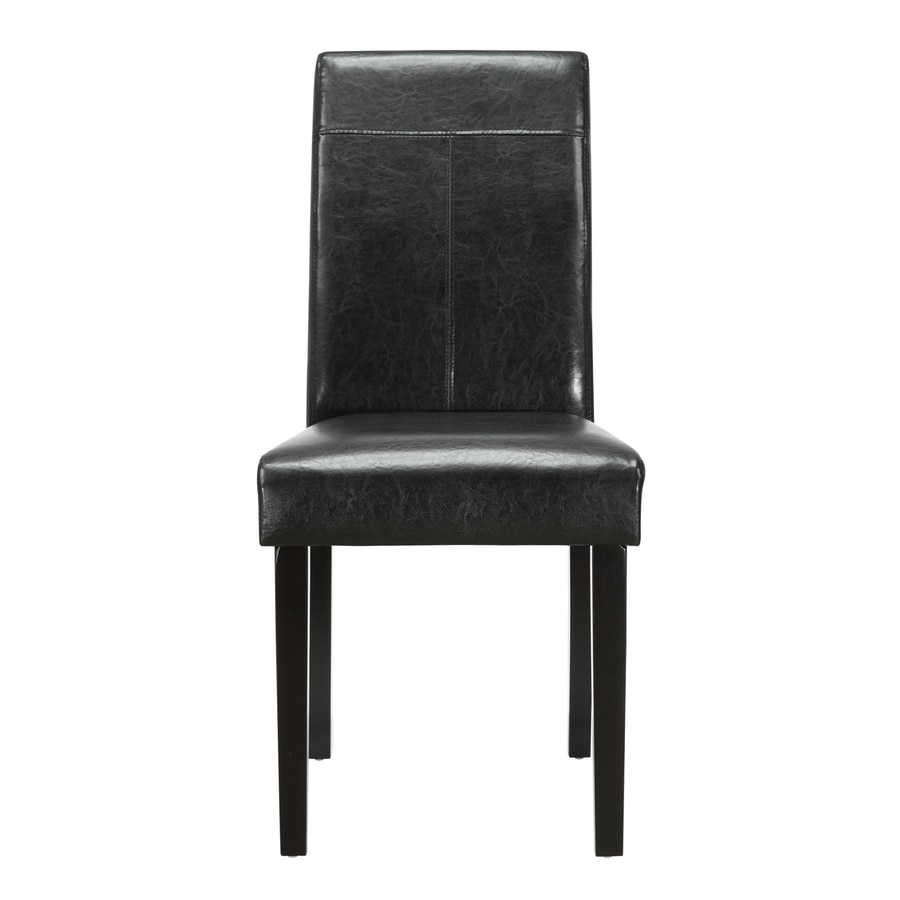 Modway 1 Compass Black Crackled Vinyl Side Chair