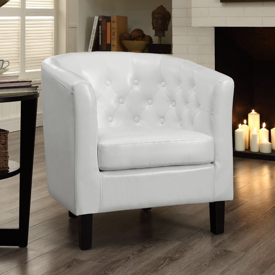 Modway Cheer White Vinyl Club Chair