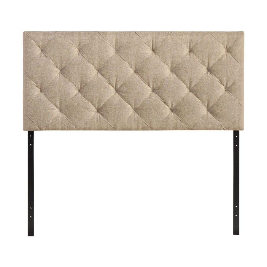 Modway Theodore Beige Queen Linen Upholstered Headboard