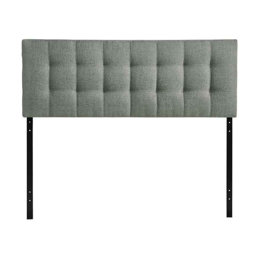 Modway Lily Gray Queen Linen Upholstered Headboard