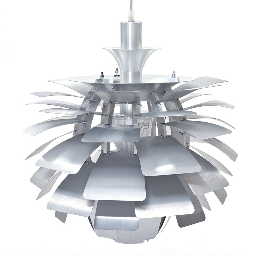 Modway Petal 28-in Silver Plug-in Single Geometric Pendant