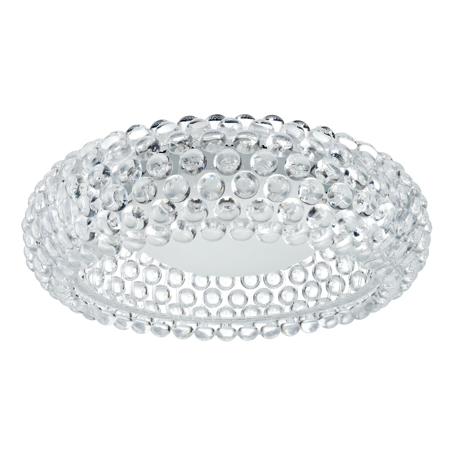 Modway Halo 25.5-in W Clear Ceiling Flush Mount Light