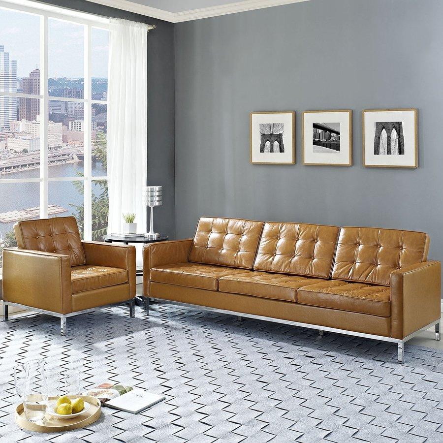 Modway 2-Piece Loft Tan Living Room Set