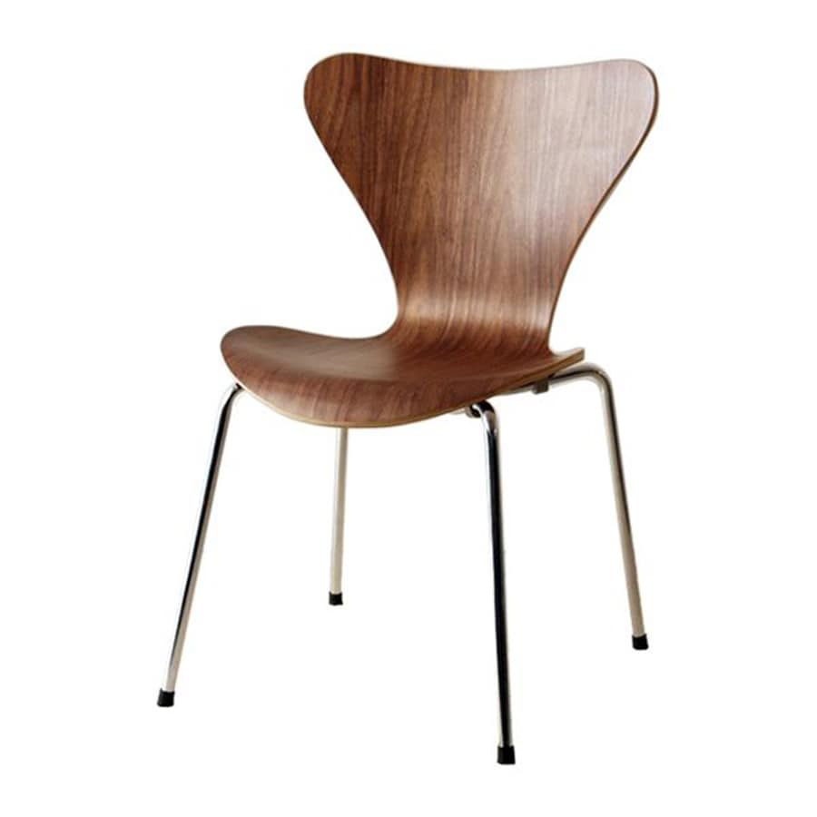 Fine Mod Imports Jays Contemporary Walnut Side Chair