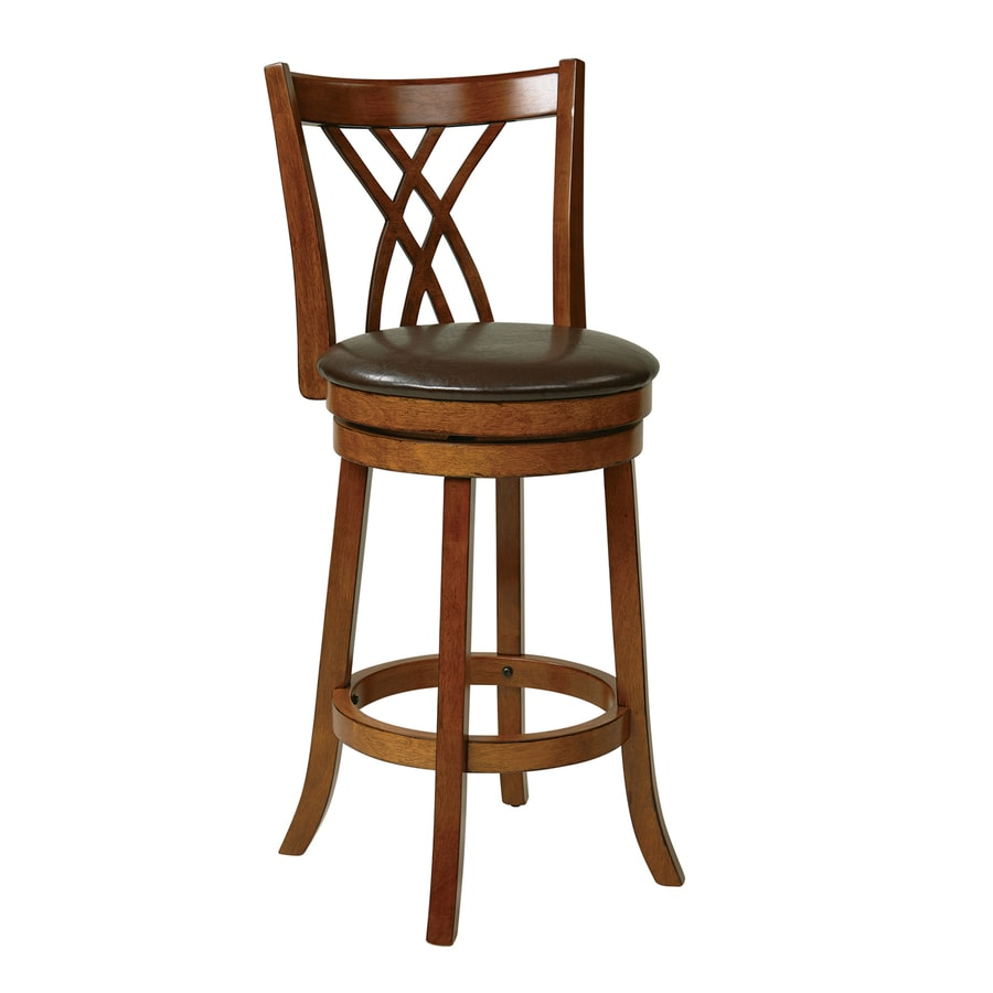 Office Star Metro Oak 30-in Bar Stool