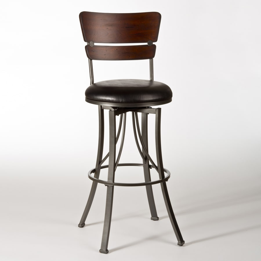Hillsdale Furniture Santa Monica Modern Cherry/Pewter Counter Stool